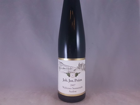 JJ Prum Wehlener Sonnenuhr Auslese Riesling 2007 375ml
