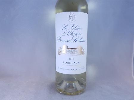 Le Blanc Du Prieure Lichine Bordeaux AOC 2015
