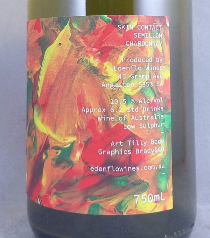 Edenflo Lemon Krush Semillon Chardonnay 2021 Back Label