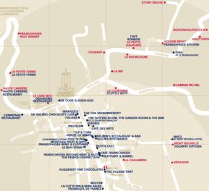 Franschhoek Wine Valley Map