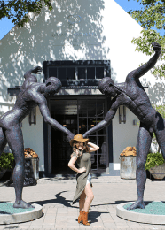 Grande Provence wine girl cape town entrance franschhoek
