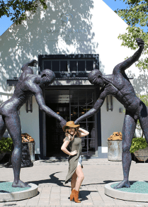 Grande Provence wine girl cape town entrance franschhoek