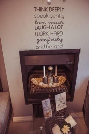 Devonvale spa fireplace