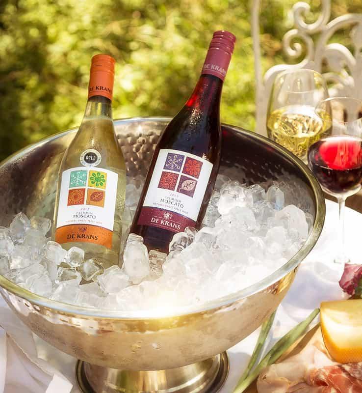 de krans sparkling sweet wine south africa