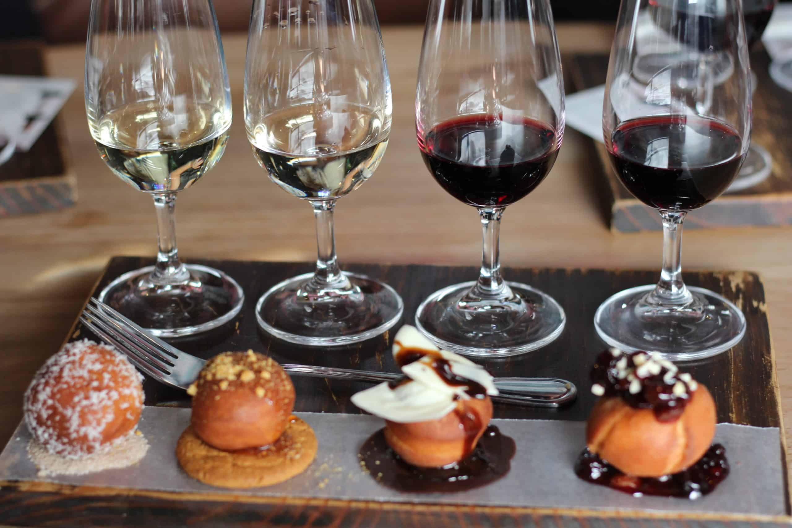Wellington Wines doughnut wine pairing