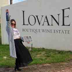 Wine girl at Lovane wines in Stellenbosch
