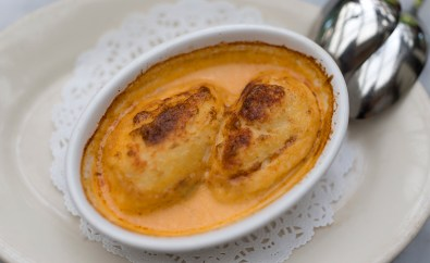 Quenelles de Brochet - Pike dumplings with lobster sauce -Bistro Jeanty