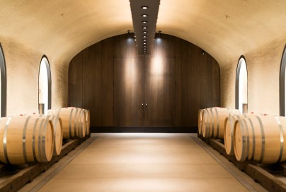 The Davis Estates barrel room and entrance to the wine caves and Phase V member's room
