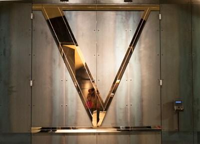 Entrance to the Phase V member's room complete with vein scanner - Davis Estates