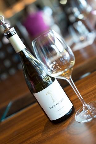 Lovely Chardonnay in the tasting room at Davis Estates.