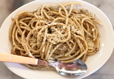 Cacio e Pepe - traditional pasta dish from Rome - Ciccio Napa Valley