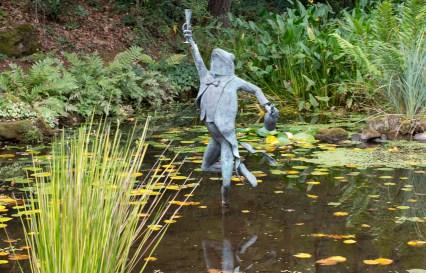 Koi pond at the entrance of Schramsberg Vineyards - Napa Valley