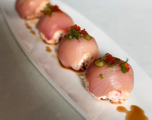 "Hamachi ""Bon-Bons"" - one of the best items on the appetizer menu - Eiko's Napa"