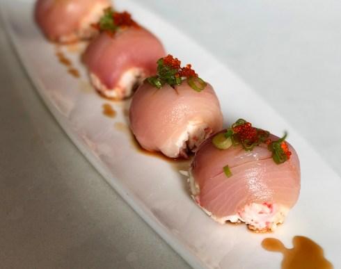 "Hamachi ""Bon-Bons"" - one of the best items on the appetizer menu - Eiko's Napa"