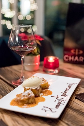Delicious Bread Pudding with caramel and bourbon ice cream - A must try!