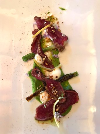 Lamb tataki was the most adventurous dish of the night for me personally - It ended up being excellent