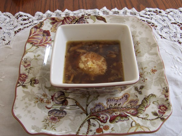 Caramelized Leek and Mushroom Soup
