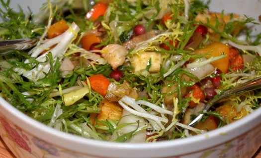 Roasted Root Vegetable Salad with Persimmons