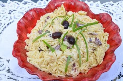 Black Olive Orzo Pasta