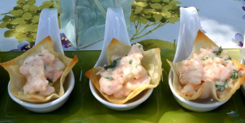 Mango Shrimp Cups