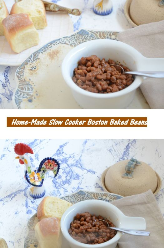 Home-Made Boston Baked Beans -after you have these slow cooker beans you will never want to go back to canned!