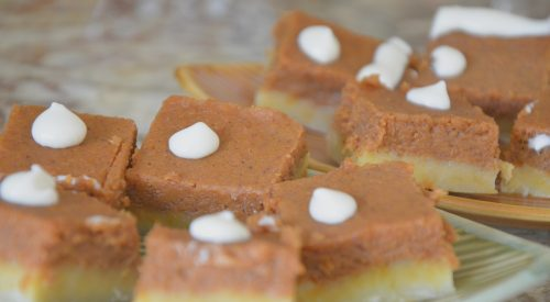 Make Ahead Pumpkin Squares