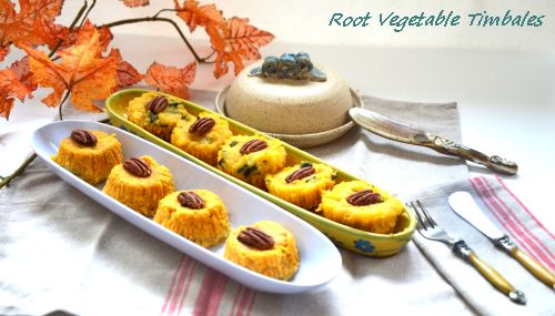 Root Vegetable Timbales with Sage Brown Butter