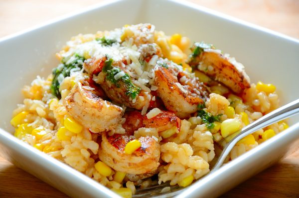 corn-shrimp-risotto
