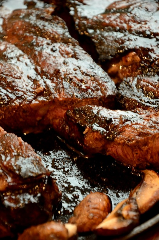 Strip Loin Steak with Marinade