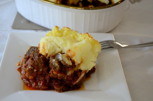 goulash-shepherd's-pie-on-a-white-plate
