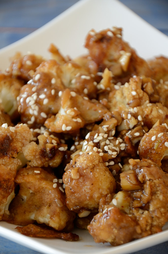 This Spicy Chinese Cauliflower is a tasty, healthy side or vegetarian main.... better than take out!