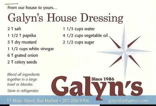 Galyn's House Celery Seed Dressing