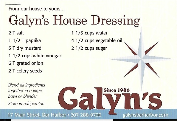 Galyn's House Celery Seed Dressing