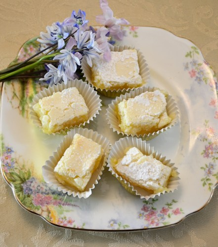 Lemon Squares for Tea Time
