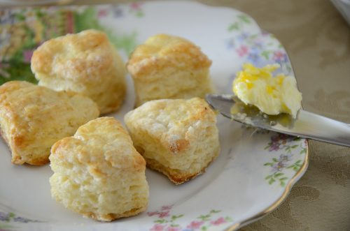 Tiny Tea Scones with Orange Butter
