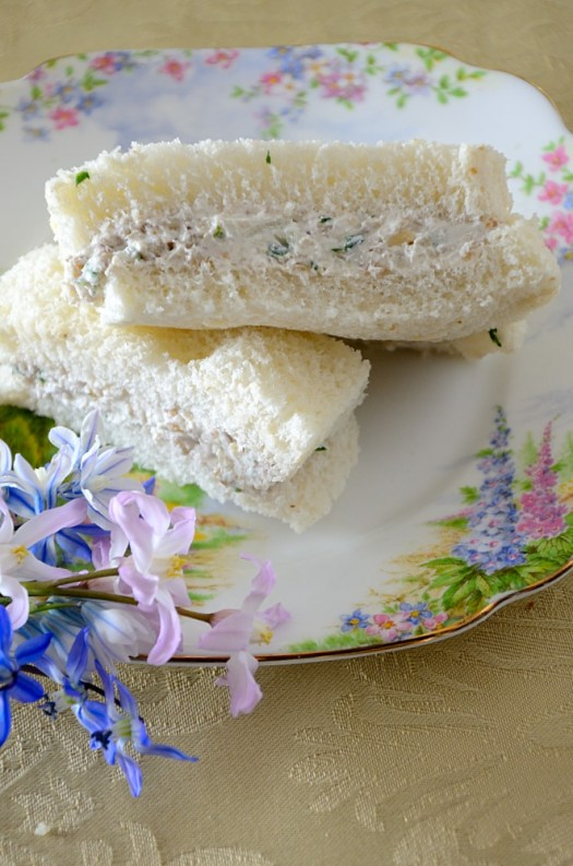These Walnut Cream Cheese tea sandwiches would be a welcome addition to an Afternoon Tea, Bridal shower or picnic. Elegant and tasty!