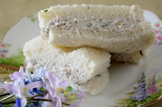 Walnut Cream Cheese Tea Sandwiches