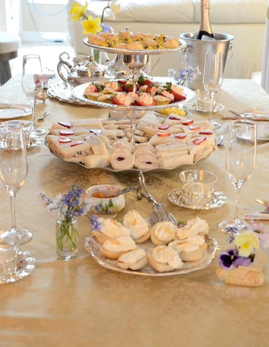 Get in on the Royal Festivities of Prince Harry and Meghan's wedding with this Royal Wedding Tea Party.  Or treat your Mom, a bride-to-be or your gal pals like royalty any time with these dainty scones, tea sandwiches and sweet bites!