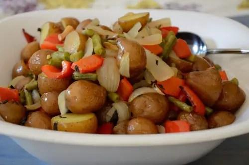 Sheet Pan Potato Salad