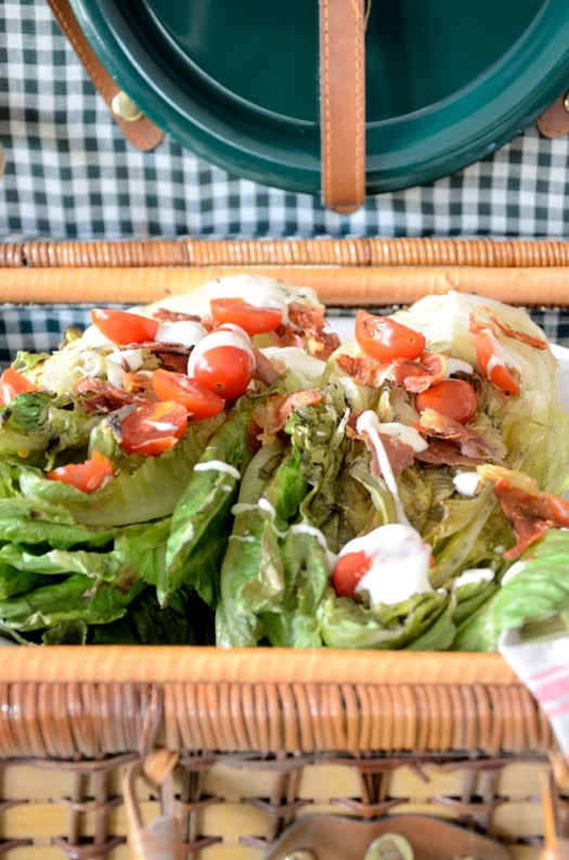 Grilled Romaine with Crispy Prosciutto packs a lot of flavour for 4 ingredients!