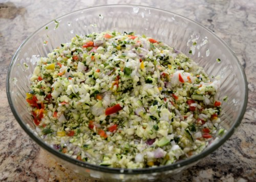 Grated Zucchini for Relish