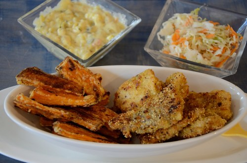 Lemon Pepper Haddock with Crispy Sweet Potato Fries