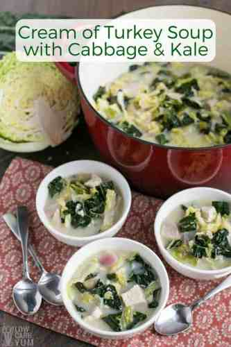 Cream of Turkey Soup With Kale and Cabbage
