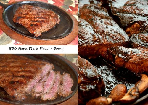 Marinated Flank and Strip Loin Steaks