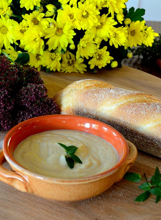 This delicious Roasted Parsnip and Pear Soup would make a great starter course for entertaining but is hearty enough to make a meal.