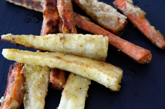 Crispy Carrots and Parsnips