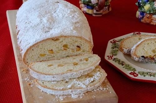Sliced Stollen Loaf