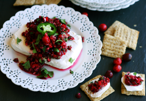 Cranberry Salsa Cream Cheese