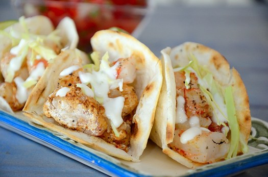 Argentinian Grilled Shrimp Tacos