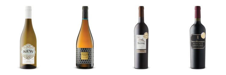 Four wine bottles from recommendations for LCBO Vintages Release Aug, 17, 2019.